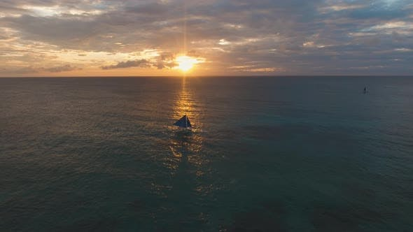 Cover Image for Sailing Yacht at Sunset