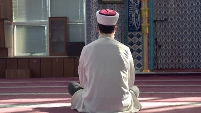 Lonely Alone Praying Mosque