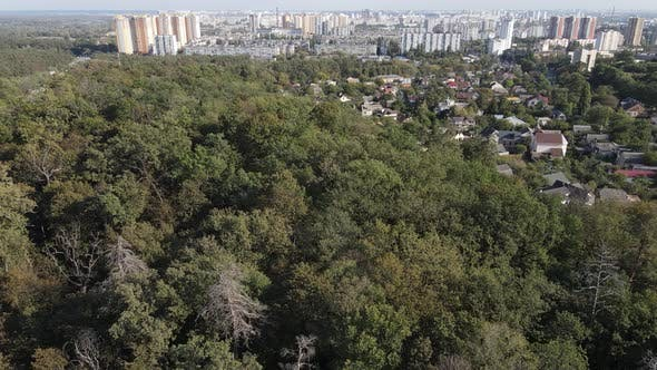 Thumbnail for Aerial View of the Border of the Metropolis and the Forest. Kyiv, Ukraine