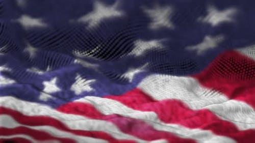 United State Flag Artistic Title Backdrop