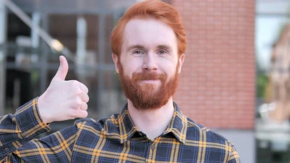 Thumbnail for Thumbs Up by Redhead Beard Young Man, Outdoor