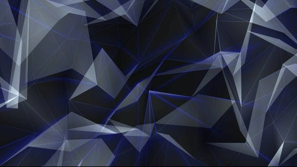 Thumbnail for Abstract Glowing Polygons Background