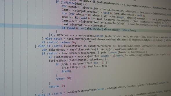 Thumbnail for Digital Html Code White  Background