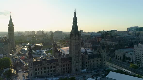 Thumbnail for Aerial view of the Parliament Buildings