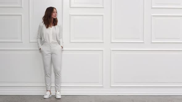 Thumbnail for Beautiful Businesswoman in White