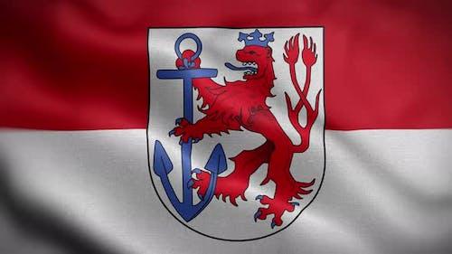 Dusseldorf Germany Flag Loop Background 4K