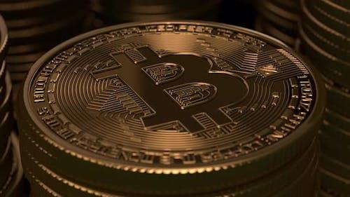 Bitcoins gestapelt