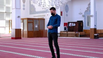 Youth Worshiped in Masked Mosque