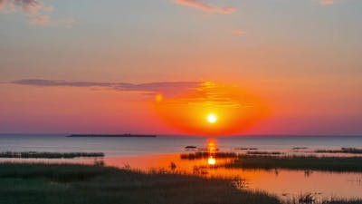 Sunrise over the Gulf of Finland, time-lapse