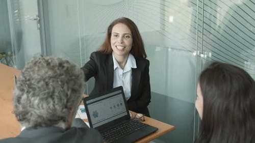 Positive Young Company Representative
