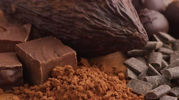 Thumbnail for Chocolate products; Cocoa Bean, Chocolate Powder, fudge, candy.