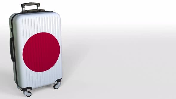 Thumbnail for Traveler's Suitcase Featuring Flag of Japan