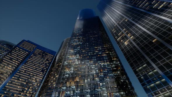 Thumbnail for City Skyscrapers at Night