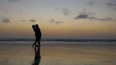 Couple Kissing Shadow