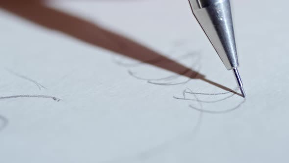 Drawing Picture Outline with Pencil