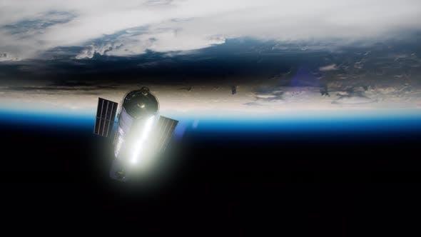Thumbnail for Hubble Space Telescope Orbiting Earth