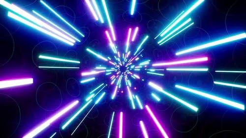 VJ Neon Light Beam Disco Background Loop 4K