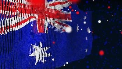 Australian Flag Particle Animation