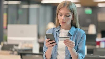 Woman Making Online Payment on Smartphone