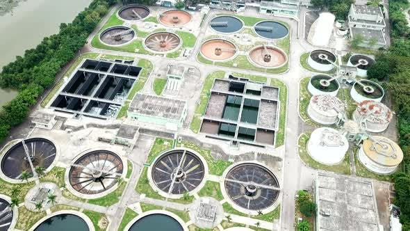 Thumbnail for Top View of Sewage Treatment Plant
