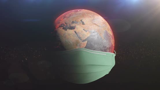 Thumbnail for Earth Turning With Medical Mask Protecting From Corona Virus Loop