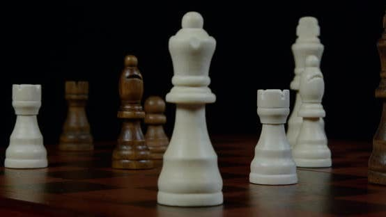 Thumbnail for Chess Player Makes a Move the White Queen 25b