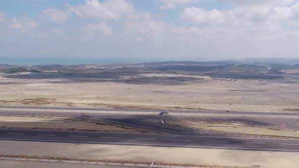 Aviation Festival Parachute Landing Aerial View
