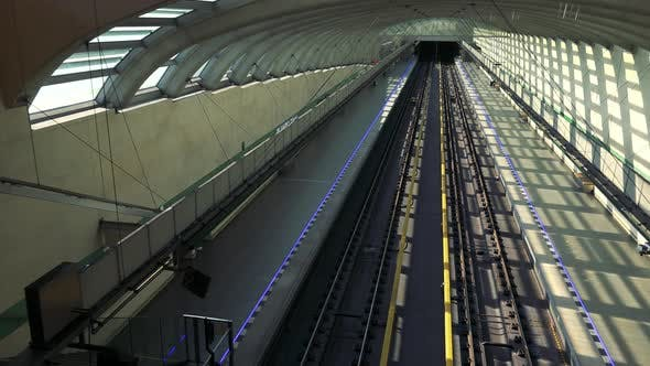 Thumbnail for An Empty Subway Station, Top View