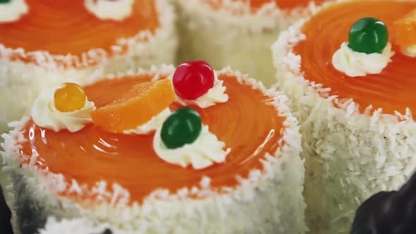 Thumbnail for Sponge Cakes with Cream and Different Fillings