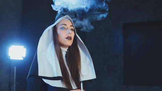 Nun Smoking