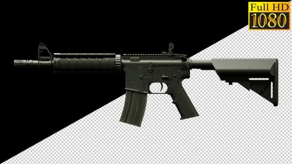 Rifle, Weapons, Guns On Alpha Channel Loops V1