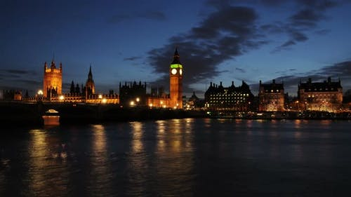 Time-lapse of the Palace of Westminster in London