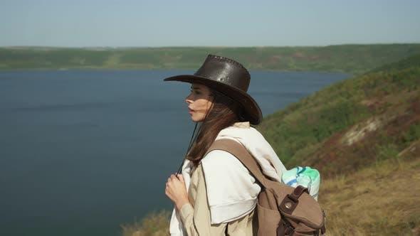 Woman Looking at Beautiful Nature on Bakota Bay