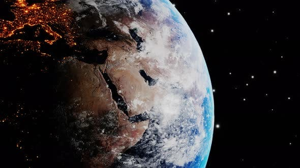 Thumbnail for Earth Slowly Rotating in Space