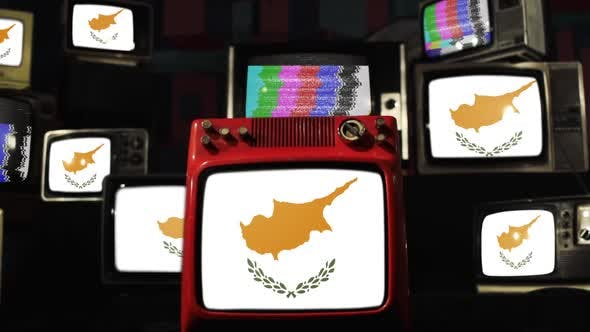Thumbnail for Cyprus flag and Vintage televisions.