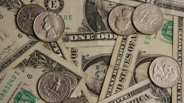 Thumbnail for Rotating shot of American money (currency) - MONEY 533