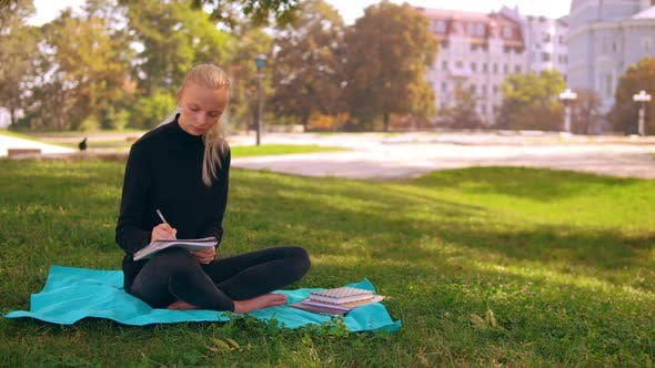 Thumbnail for Girl Blonde Study Outdoors