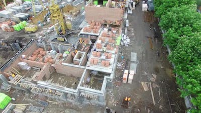 Construction Of A Brick Apartment Building