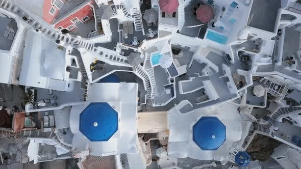 Thumbnail for Top Aerial of Oia Town, Santorini