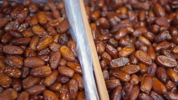 Thumbnail for Close Up of Dried Dates on Sale in Food Market