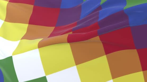 Wiphala Flag Waving
