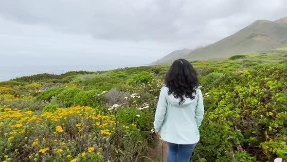 Thumbnail for Asian Woman Hiking In Big Sur California