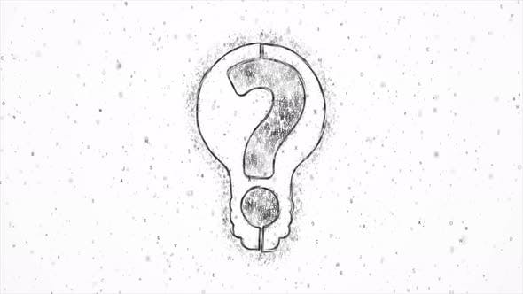 Thumbnail for Light Bulb with Black Question