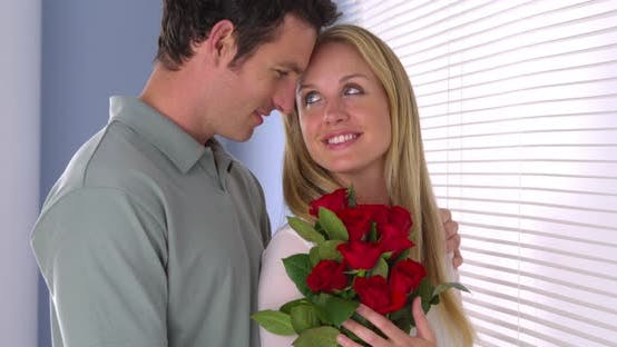 Thumbnail for Girlfriend gets surprised with flowers