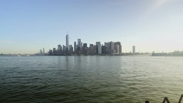 Thumbnail for New York City Skyline Reflected In Water