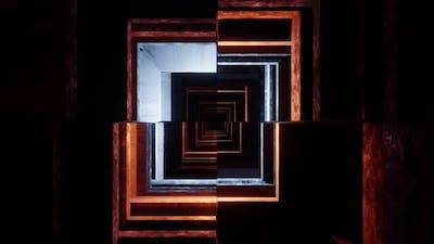 Futuristic tunnel loop