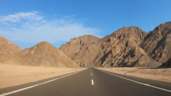 Thumbnail for Road Through Desert and Mountains in Egypt