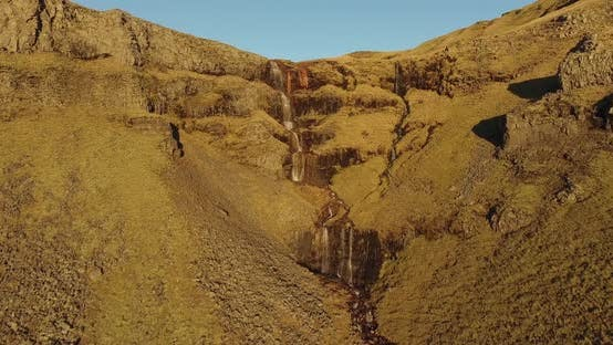 Thumbnail for Aerial Iceland Waterfall