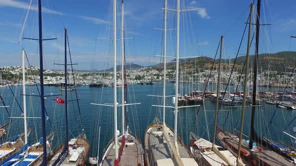 Thumbnail for Masts of Boats and Yachts in Bodrum Marina