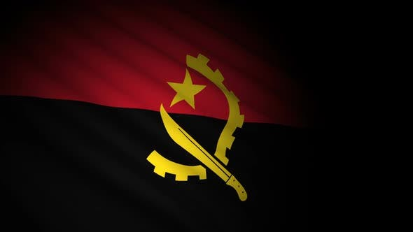 Thumbnail for Angola-Flagge weht im Wind